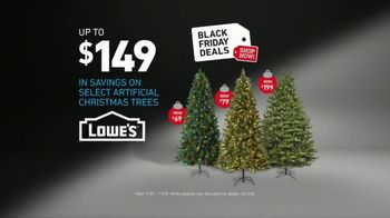 lowes black friday deals tv commercial snowman artificial trees ispottv - Black Friday Deals On Christmas Trees