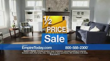 Empire Today 1/2 Price Sale TV Spot, 'Flooring Styles'