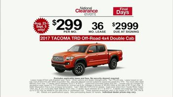 Toyota National Clearance Event TV Spot, 'Gone in Seconds' - Thumbnail 5