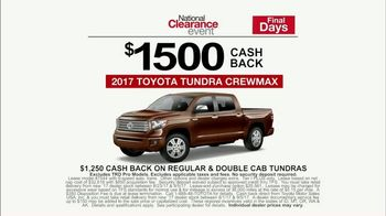 Toyota National Clearance Event TV Spot, 'Gone in Seconds' - Thumbnail 6