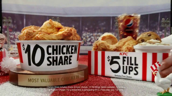 KFC $10 Chicken Share & $5 Fill Ups TV Spot, 'Sports-Watching Time'