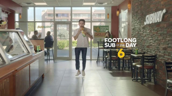 Subway $6 Footlong Sub of the Day TV Spot, \'Dancing Feet\'