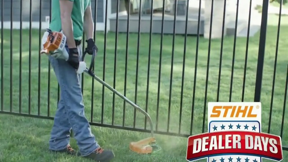 stihl dealer days tv commercial 39 trimmers blowers and. Black Bedroom Furniture Sets. Home Design Ideas