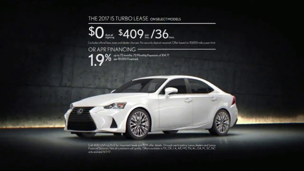 2017 lexus is turbo tv commercial 39 body language ourspoken 39 song by inshape. Black Bedroom Furniture Sets. Home Design Ideas