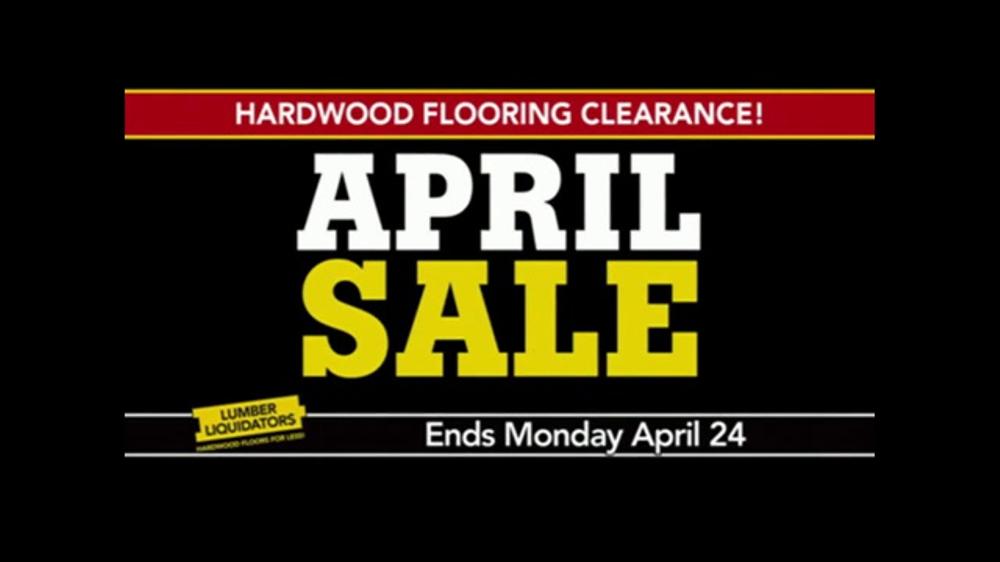 Lumber Liquidators April Sale Tv Commercial Small Lots
