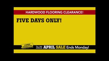 Lumber Liquidators April Sale TV Spot, 'Small Lots'
