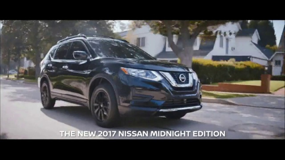 2017 nissan midnight edition tv commercial 39 2017 rogue. Black Bedroom Furniture Sets. Home Design Ideas