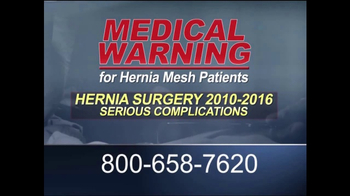 Guardian Legal Network TV Spot, 'Hernia Mesh Patients'