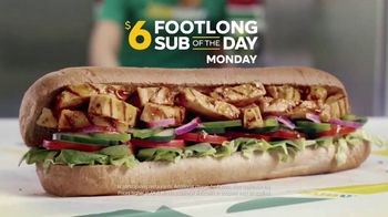 Subway TV Spot, 'Footlong Sub of the Day'