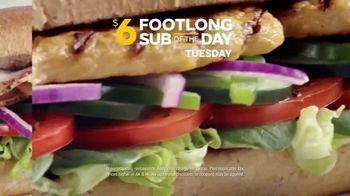 Subway TV Spot, 'Footlong Sub of the Day'