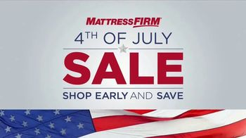Mattress Firm Fourth of July Sale TV Spot, 'Shop Early and Save!'