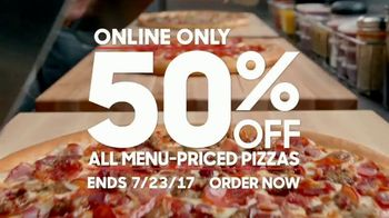 Pizza Hut TV Spot, '50% Off Menu-Priced Pizzas July'