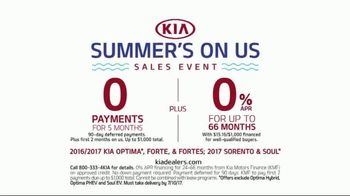 Kia Summer's On Us Sales Event TV Spot, 'No Payments for Five Months' - Thumbnail 8