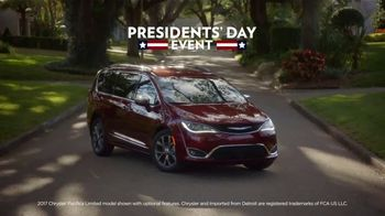 Presidents Day Car Sales 2017 >> Chrysler Presidents Day Sales Event Tv Commercial 2017 Pacifica T2 Video