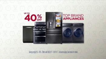 Sears Labor Day Event TV Spot, 'Top Brand Appliances'