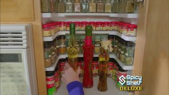 Spicy Shelf Deluxe TV Spot, 'Stackable Kitchen Organizer Spice Rack'