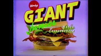 Wendy's Giant Jr. Bacon Cheeseburger TV Spot, 'G-G-G-GIANT JUNIOR!'