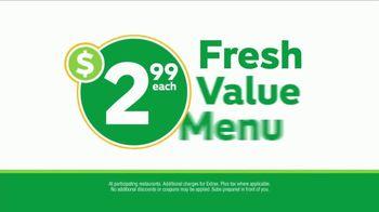 Subway $2.99 Fresh Value Menu TV Spot, 'Five Great Subs'