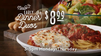 Olive Garden Early Dinner Duos TV Spot, 'Delicious Combinations'