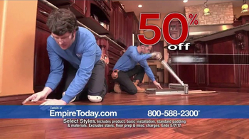 Empire Today 50-50-50 Sale TV Spot, 'Biggest Sale'