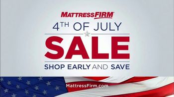 Mattress Firm Fourth of July Sale TV Spot, 'Love Your Mattress Guaranteed!'