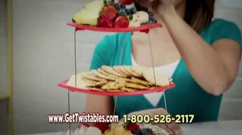 Twistables TV Spot, 'Space-Saving Tiered Serving Tray'