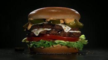 Carl's Jr. Jalapeño Double Cheeseburger TV Spot, 'Double Meat, Double Heat'