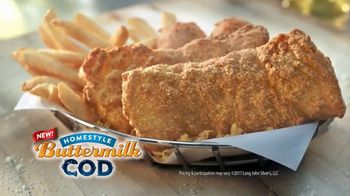 Long John Silver's Homestyle Buttermilk Cod TV Spot, 'Crispy and Tender'