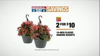 The Home Depot Memorial Day Savings TV Spot, 'Baskets and Mulch'