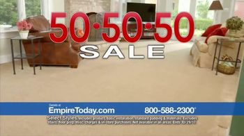 Empire Today 50-50-50 Sale TV Spot, 'Biggest Sale'