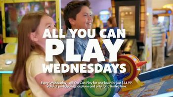 Chuck E. Cheese's TV Spot, 'All You Can Play Wednesday'