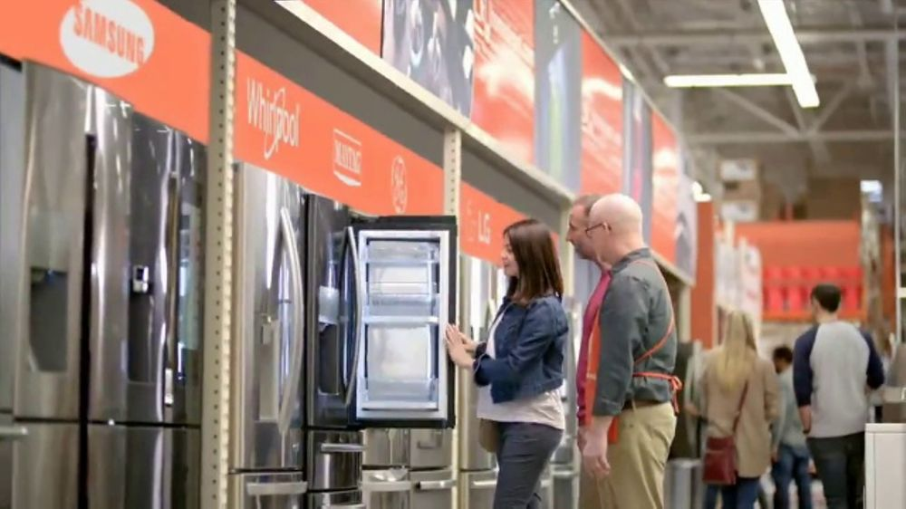 The Home Depot Red White Amp Blue Savings Tv Commercial Whirlpool Refrigerator Ispot Tv