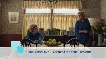 Affordable Dentures and Implants TV Spot, 'Lock Down Your Denture'