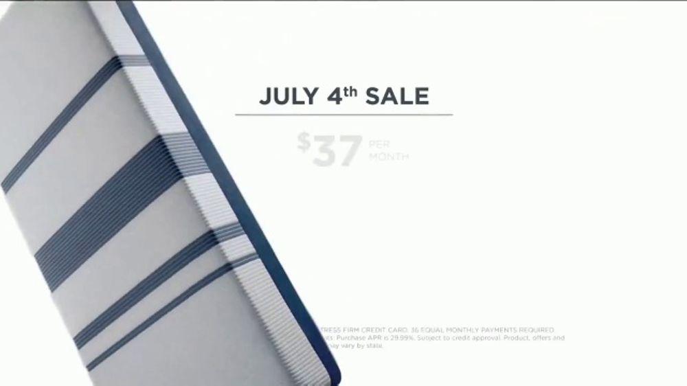 Mattress Firm July 4th Sale TV mercial Serta i fort