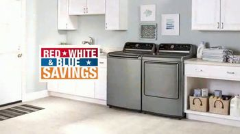 The Home Depot Red, White & Blue Savings TV Spot, 'Laundry Upgrade: LG'