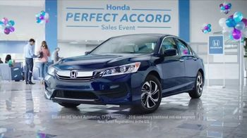 Honda Perfect Accord Sales Event TV Spot, 'Celebrate'