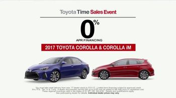 Toyota Time Sales Event TV Spot, '2017 Corolla & Corolla iM' - 2 commercial airings