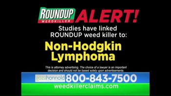Goza Honnold Trial Lawyers TV Spot, 'Roundup Weed Killer'
