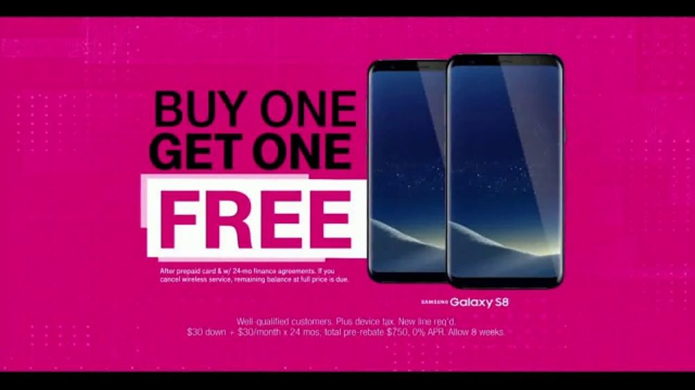 Last week, we told you about a buy-one-get-one-free deal from T-Mobile for Samsung and LG flagship phones. This week I'm back to remind you that this deal applies not only to those great devices but to the 64GB iPhone 8 and 64GB 8 Plus as well.