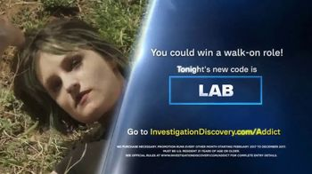 Investigation Discovery Addict of the Month Sweepstakes TV
