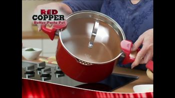 Red Copper Better Pasta Pot TV Commercial, 'Time to Strain